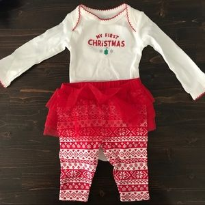 NWOT My First Christmas Outfit